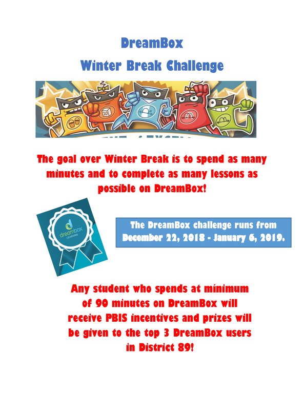DreamBox Challenge Winter Break 2018